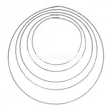 Metal ring for making wreath, 25 cm. 1 piece