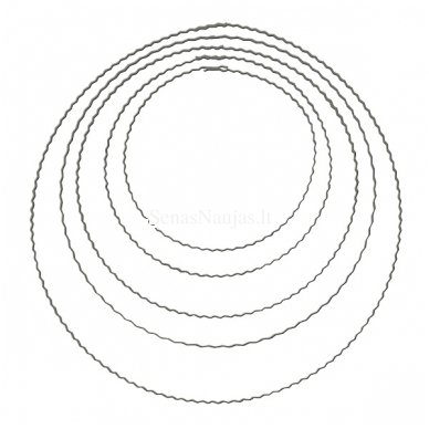 Metalinis žiedas vainikams, 18 cm. 1 vnt.