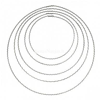 Metalinis žiedas vainikams, 15 cm. 1 vnt.