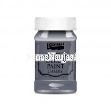 Akriliniai kreidiniai dažai, grafito pilka sp.