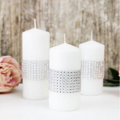 Dekoratyvi juostelė su plastikinėmis akutėmis, sidabro spalva 3