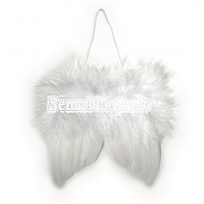 Angel's wings of feathers white
