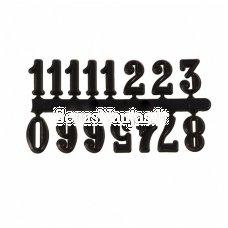 Arabiški skaitmenys laikrodžiams, juoda spalva
