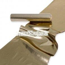 Aukso spalvos dekoratyvus audinys-juosta