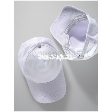 Balta medvilninė kepurė