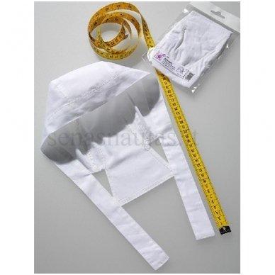 Balta medvilninė vaikiška skarelė (bandana)
