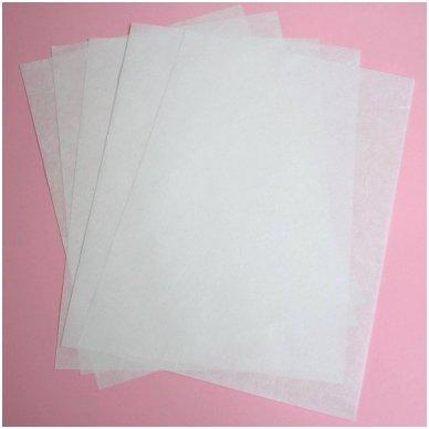 Baltas ryžinis popierius, 5 lapai