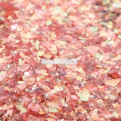 Blizgančios smulkios drožlės (raudona aukso sp.) 2