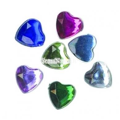 Blizgios metalinės širdelės 2