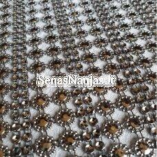 Dekoratyvi juostelė-tinkliukas, sidabro spalva