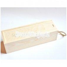 Dėžė vienam buteliui, su virve
