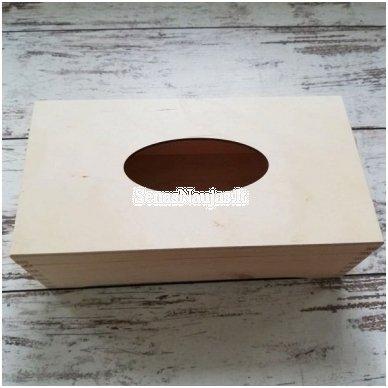 Dėžutė servetėlėms, su vyriais, ant kojelių 3