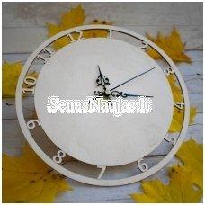 Apvalus laikrodis iš plokštės