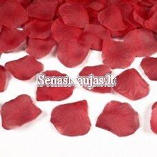 Dirbtiniai rožių žiedlapiai, raudona spalva
