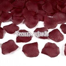 Dirbtiniai rožių žiedlapiai, tamsi raudona spalva