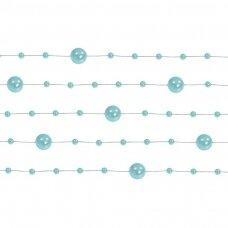 Dirbtinių perlų girlianda, mėtinė spalva