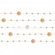 Dirbtinių perlų girlianda, morkinė spalva