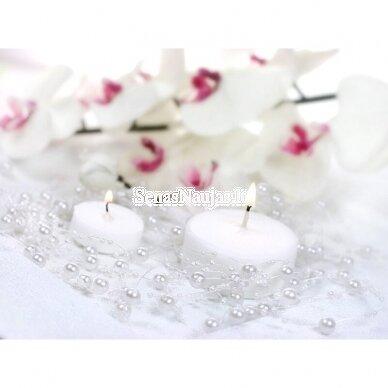 Dirbtinių perlų girlianda, šviesi rožinė spalva 3