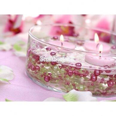Dirbtinių perlų girlianda, šviesi rožinė spalva 5