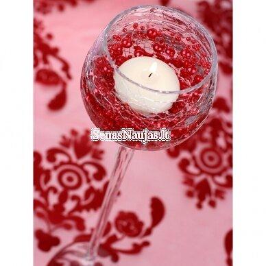 Dirbtinių perlų girlianda, šviesi rožinė spalva 6