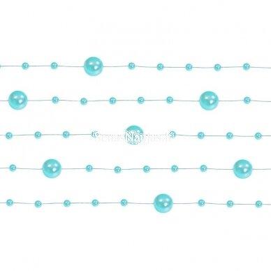 Dirbtinių perlų girlianda, turkio spalva