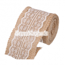 Jute ribbon with lace