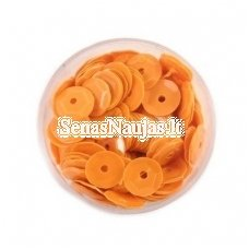 Facetuoti žvyneliai siuvinėjimui, matinė oranžinė spalva
