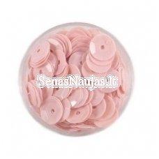 Facetuoti žvyneliai siuvinėjimui, blanki rožinė spalva