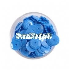 Facetuoti žvyneliai siuvinėjimui, mėlyna spalva