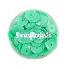 Facetuoti žvyneliai siuvinėjimui, mėtinė žalia spalva