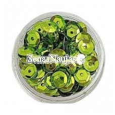 Facetuoti žvyneliai siuvinėjimui, samanų žalia spalva