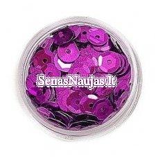 Facetuoti žvyneliai siuvinėjimui, ryški violetinė spalva