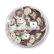 Facetuoti žvyneliai siuvinėjimui, sidabro spalva