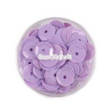 Facetuoti žvyneliai siuvinėjimui, šviesi violetinė spalva