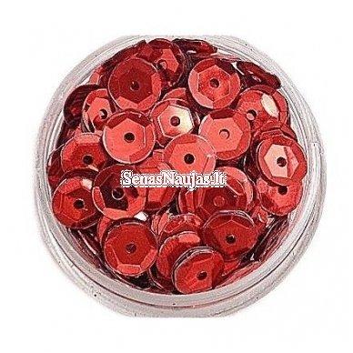 Facetuoti žvyneliai siuvinėjimui, raudona spalva