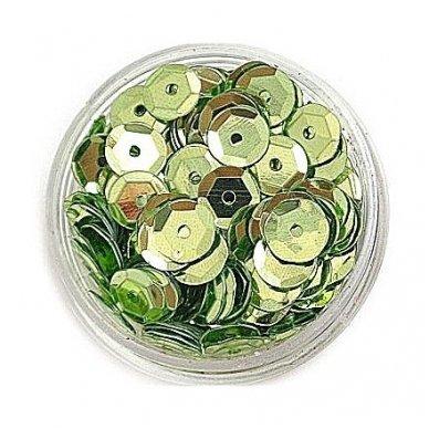 Facetuoti žvyneliai siuvinėjimui, šviesi žalia spalva