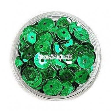 Facetuoti žvyneliai siuvinėjimui, žalia spalva