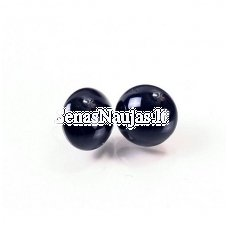 Shiny black glass eyes with a loop on the back, 1 pair