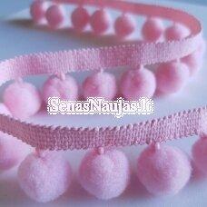 Juostelė su bumbuliukais, rožinė spalva