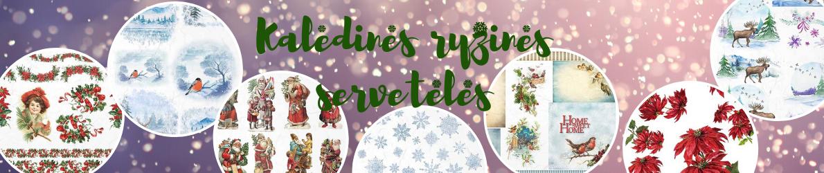 kalėdinės ryžinės servetėlės