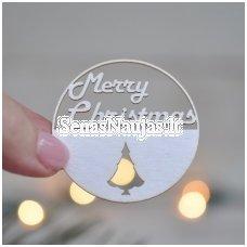Kartoninė formelė, 1 vnt. Merry Christmas