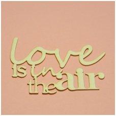 Kartoninė formelė LOVE IS IN THE AIR, 1 vnt.