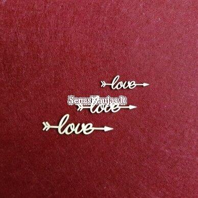 Kartoninės formelės LOVE, 1 kompl.