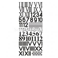 Adhesive letter clock numbers