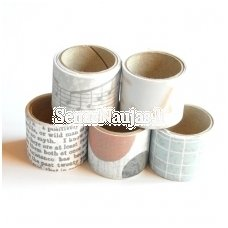 Set of adhesive fabric strips