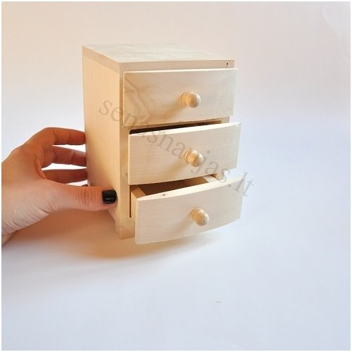 Small Box With Three Drawers Jewelry Boxes Boxes Tea