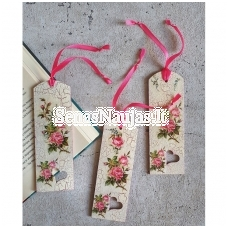 "Creative DIY kit ""Decoupage on wooden bookmarks with roses"""