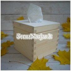 Kvadratinė dėžutė servetėlėms su vyriais