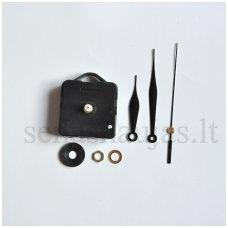 Laikrodžio mechanizmas su rodyklėmis (ilgas sriegis)