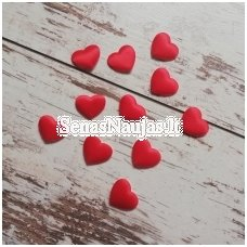 Self-adhesive decorations - hearts (1 piece, red color)